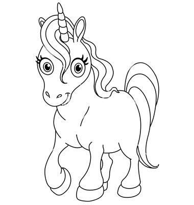 outlined cute unicorn vector cake decorating unicorn