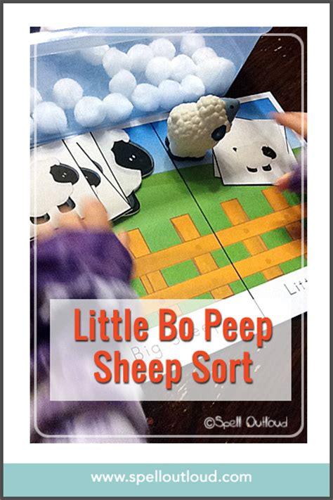 nursery rhymes  bo peep activities spell  loud