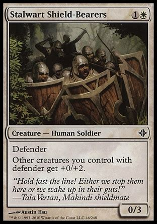 mtg defender deck eldrazi stalwart shield bearers rise of the eldrazi