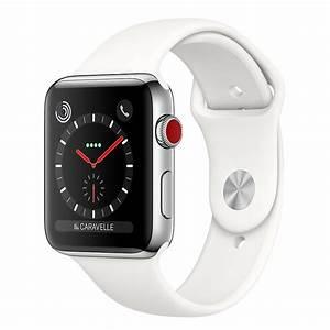 Apple Watch Series 3 GPS + Cellular Acier Sport Coton 38 ...