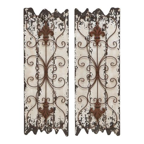 Each panel is unique, but complement each other perfectly. Shop Wood and Metal Wall Decor Panel (Set of 2) - White - Free Shipping Today - Overstock.com ...