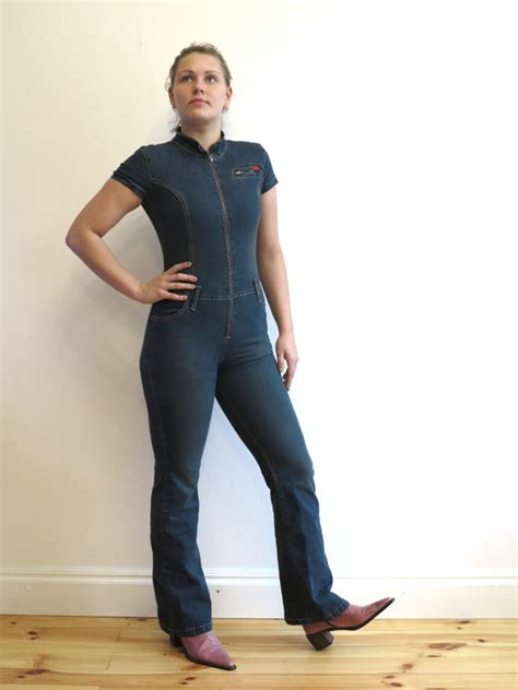 one denim jumpsuit womens denim jumpsuit one romper blue jean fitted