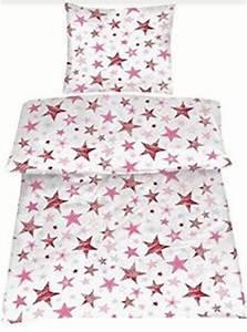 Bettwäsche 135x200 Baumwolle : bettw sche 135x200 cm baumwolle kinder sterne rosa wei m dchen stern sternmotiv ebay ~ Frokenaadalensverden.com Haus und Dekorationen