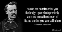 Friedrich Nietzsche Quote: No One Can Construct Bridge ...