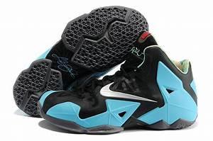 Real Nike Lebron James 11 Shoes Black Blue Shoes For Sale ...