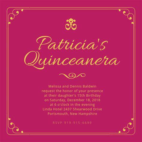 customize  quinceanera invitation templates  canva