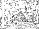 Cabin Log Coloring Pages Woods Drawing Sketch Template Exterior Templates Getdrawings sketch template
