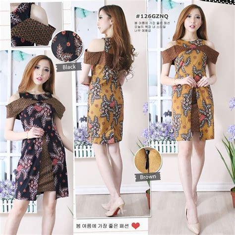 jual baju dress wanita dress batik modern sack dress
