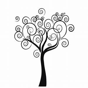 Tree wall decal Floral decals Spiral tree