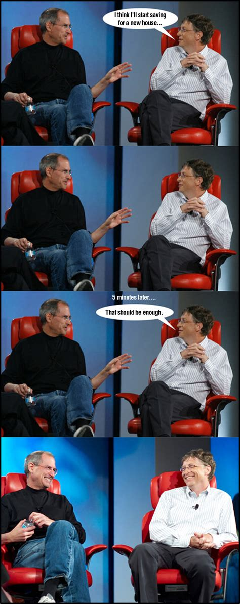 funny steve jobs  bill gates meme jokes
