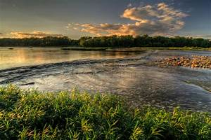River Rapids Sunset Royalty Free Stock Photos - Image ...
