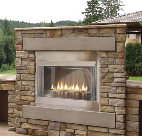 """42"""" Contemporary Outdoor Gas Fireplace  Fine's Gas"""
