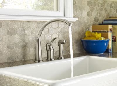 what are kitchen sinks made of allerton single handle kitchen faucet with spray gerber 9612