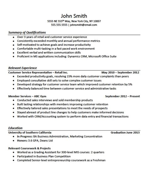 12751650 resume no work experience template exles