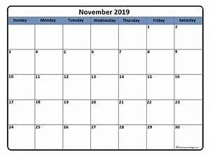 November 2019 Calendar