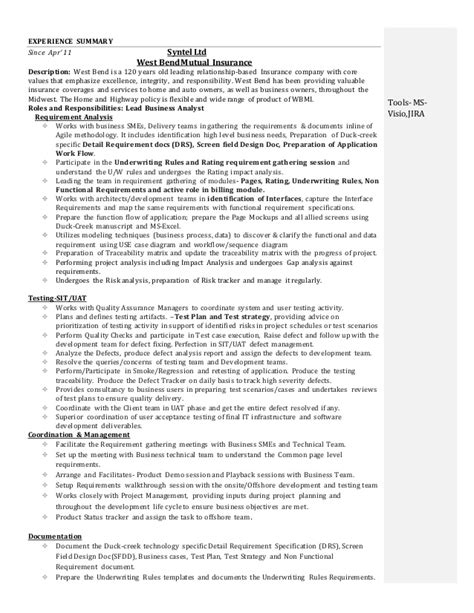 agile business analyst resume printable planner template