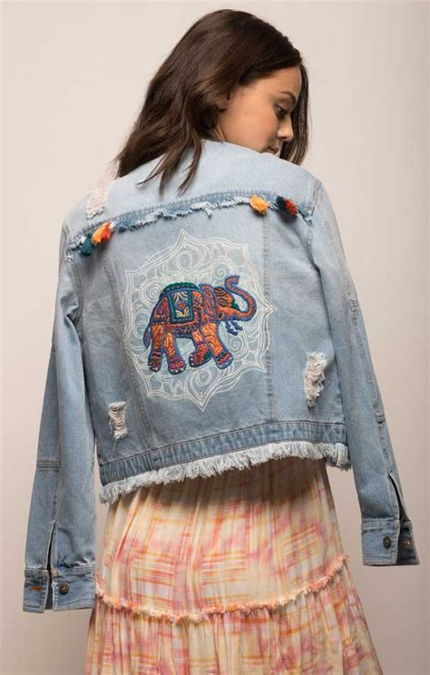 embellished denim jacket jachs ny