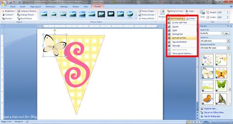 Where Is Clipart In Word How To Make A Bunting Banner In Word With Clip Tips