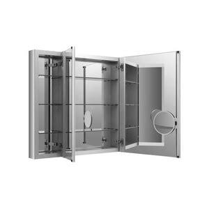 Kohler Tri Mirror Medicine Cabinet by K99011 Na Verdera Tri View Medicine Cabinet Mirror At