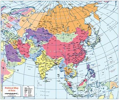 Map Asia Political Colour Blind Cosmographics Maps