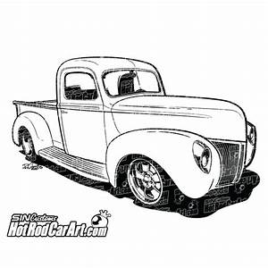 1940 ford pickup hot rod car art With 1952 ford pick up
