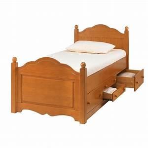 Lit Enfant 4 Ans : lit enfant 4 tiroirs pin miel beaux meubles pas chers ~ Teatrodelosmanantiales.com Idées de Décoration