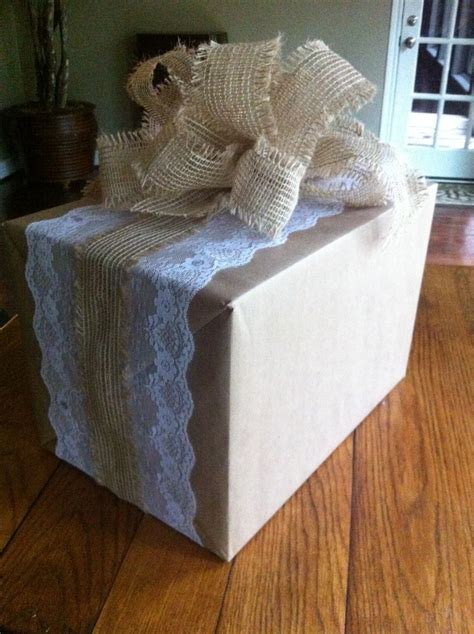 shabby chic gift ideas shabby chic country wedding gift wrap what a good idea pinterest