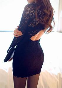 black patchwork lace round neck polyester mini dress With robe trop moulante