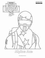 Fortnite Coloring Skin Pages Ace Alpine Skins Printable Sheets Drawing Cool Fun Superfuncoloring Print Template Boys Related Colouring Super Christmas sketch template