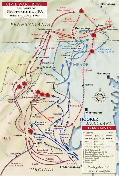 gettysburg campaign map civil war trust