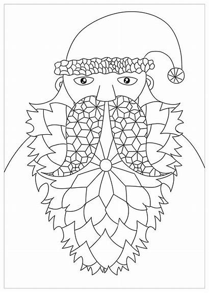 Santa Claus Coloring Christmas Drawing Pages Simple