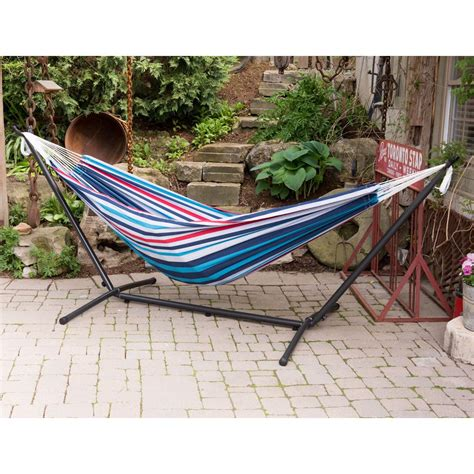 12 foot hammock stand vivere 9 ft cotton hammock with stand in denim