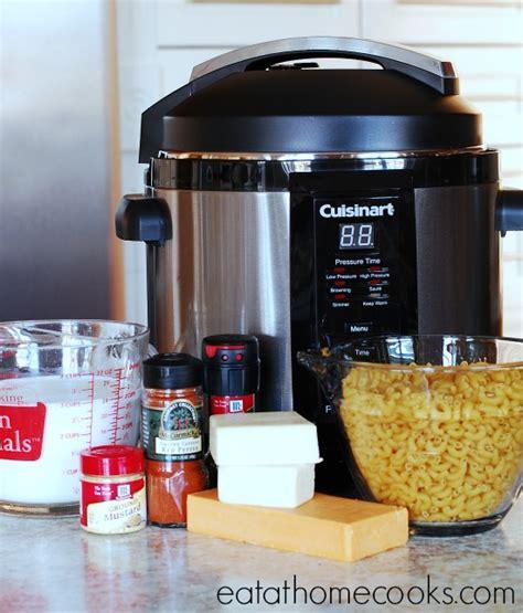 pressure cooker macaroni  cheese eat  home