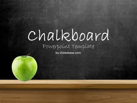 blackboard chalkboard powerpoint template slidesbase