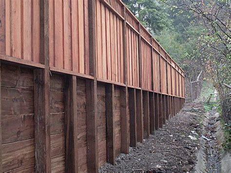 pressure treated retaining wall design retaining walls construction portfolio a and j fencing
