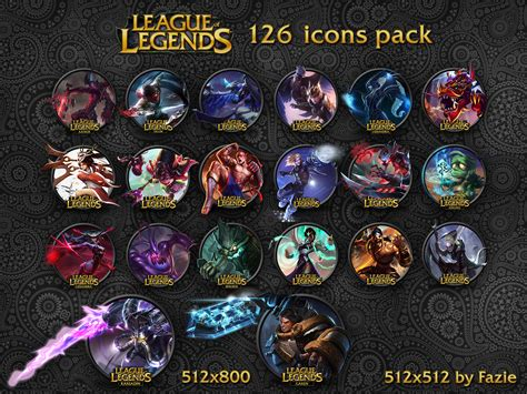 League Of Legends Icons By Fazie By Fazie69 On Deviantart