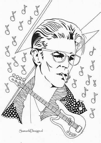 Bowie David Coloring Famous Adult