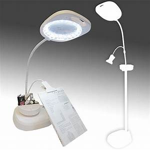 led magnifying floor lamp with clip arm and tray create With bios led floor lamp and magnifier