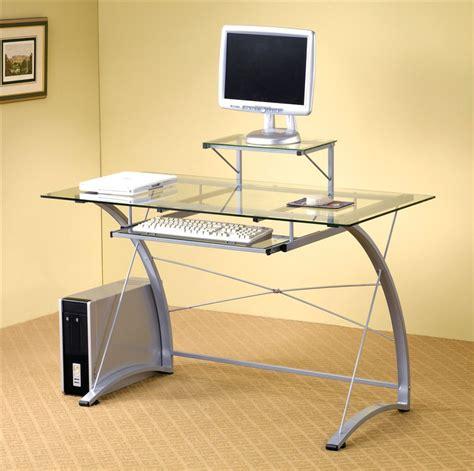 glass top office glass desk glass top desks for elegant but simple