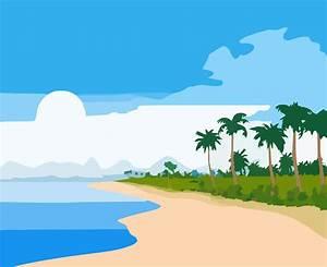 Clip Art Beach Scene - ClipArt Best