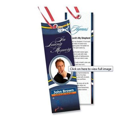 memorial bookmark templates  downloads projects