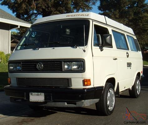 volkswagen westfalia cer 1988 vw westfalia cer california rust free van no
