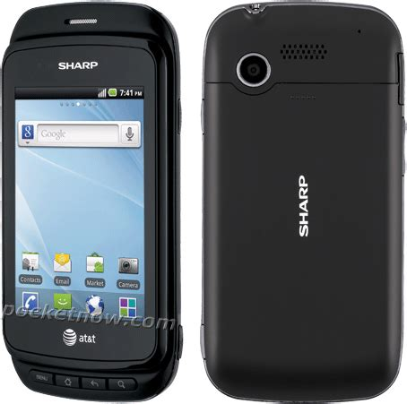 sharp fx ii  android phone  att revealed