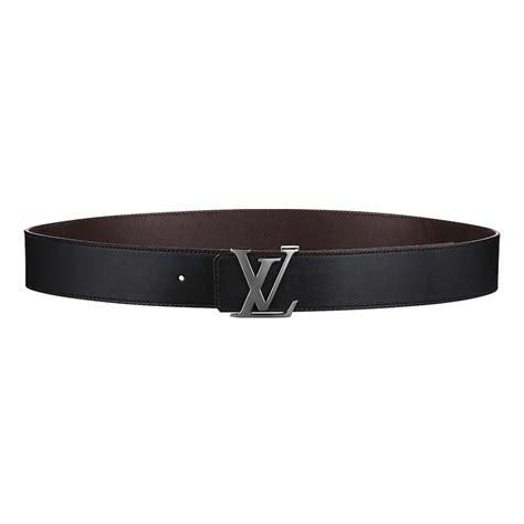 louis vuitton men lv initiales mm reversible belt  calf leather black lulux