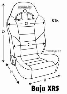 Corbeau Baja Xrs Reclining Suspension Seat Pair For 76