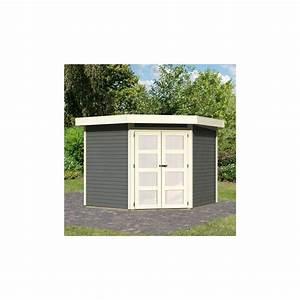 Abri De Jardin Toit Plat : abri de jardin toit plat 5 95m bois gris 19mm goldendorf ~ Dailycaller-alerts.com Idées de Décoration