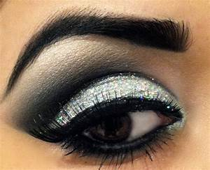 Dramatic Glitter Smokey Eye (Prom Makeup) - YouTube