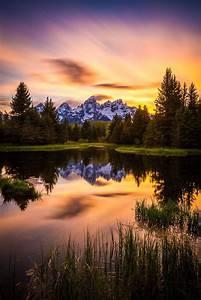 Teton sunset at Schwabacher's by Jordan Edgcomb ~ Grand ...