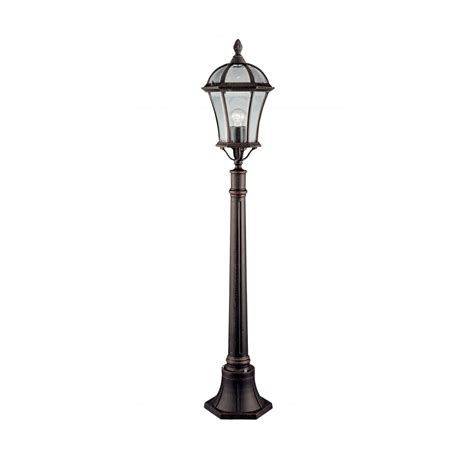 searchlight 1568 rustic brown outdoor l post