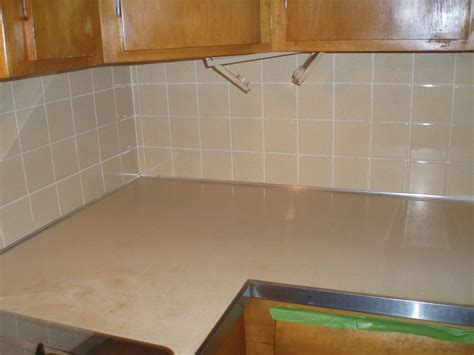 painting tile backsplash how to paint a ceramic tile backsplash countertop transfauxmations